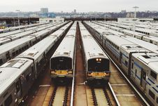 Free Trains Parked In The Terminal During Daytime Stock Photos - 83011333