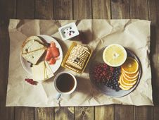 Free Orange Cookies And Bread On Table Stock Photography - 83013102
