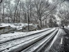 Free Snowy Road During Daytime Stock Images - 83013104