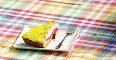 Free Yellow And Brown Pastry On White Saucer Royalty Free Stock Photography - 83013337