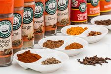Free Spice Jars And Spices Stock Image - 83013701