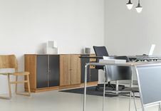 Free Desk And Cabinets In Office Stock Image - 83013711