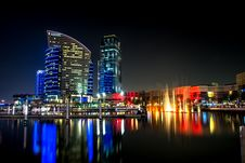 Free City Skyline Beside Water During Night Royalty Free Stock Photos - 83013868