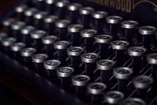 Free Typewriter Keys Stock Photos - 83013963