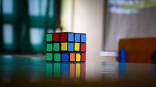 Free Rubik S Cube On Table Royalty Free Stock Photo - 83014105