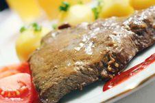 Free Steak Dinner Royalty Free Stock Photo - 83014125