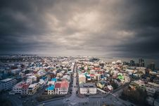 Free Aerial View Of Iceland Village Royalty Free Stock Image - 83014316