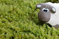 Free Brown And Gray Sheep To On Green Grass Field Toy Royalty Free Stock Images - 83014819