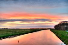 Free Sunset Over Country River Stock Photos - 83014923