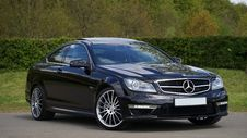 Free Black Mercedes Benz Coupe Royalty Free Stock Photos - 83015058