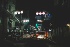 Free Streetlights And Cars Royalty Free Stock Photo - 83015215