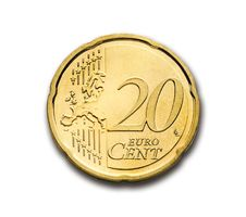 Free 20 Euro Cent Stock Photography - 83015282