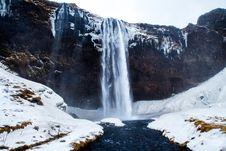 Free Waterfall In Winter Stock Photos - 83015493
