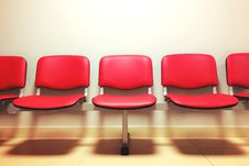 Free Red Empty Seats Stock Photography - 83015642