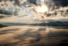 Free White Clouds With Sun Piercing Through It Stock Image - 83015771