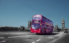 Free Double Decker Bus In London, England Stock Image - 83015881