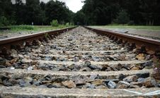 Free Gravel On Railroad Tracks Stock Images - 83016064