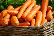 Free Carrots On Brown Woven Basket Royalty Free Stock Photos - 83016908