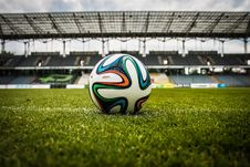 Free White Black And Green Soccer Ball On Soccer Field Stock Photography - 83016962