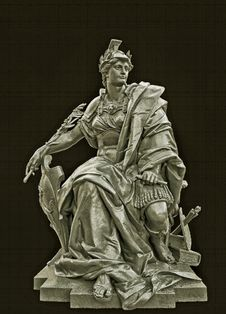 Free Statue Of Alexander On Black Royalty Free Stock Photography - 83017147