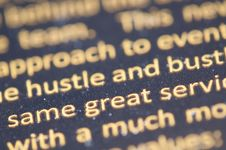 Free Close Up Of Printed Text Royalty Free Stock Image - 83017166