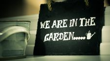 Free We Are In The Garden Stock Photography - 83017192