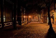 Free Silent Street During Night Stock Images - 83017374