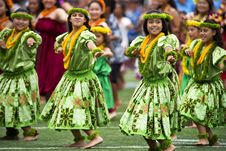 Free Girl S In Green Dress Dancing During Daytime With Leis Royalty Free Stock Photo - 83017595