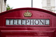 Free Telephone Red Gold Crown Booth Stock Image - 83017731