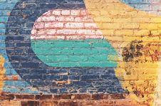 Free Yellow Green And Blue Brick Wall Royalty Free Stock Photography - 83018197