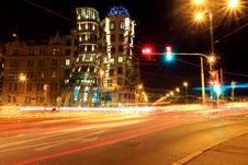 Free Blur Of Traffic On Road At Night Stock Photo - 83018260