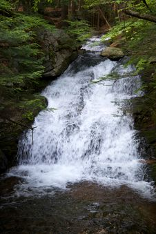 Free Waterfall On Forest Stream Stock Photo - 83018270