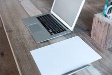 Free Laptop Computer On Desktop Stock Images - 83018674