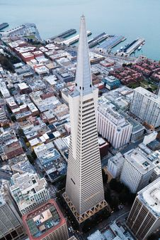 Free Aerial View Of Skyscraper Stock Images - 83018914