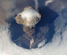 Free Top View Of Volcano Erupting During Daytime Stock Photos - 83019213