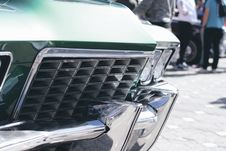 Free Green And Silver Car Grille In Tilt Shift Lens Royalty Free Stock Image - 83019256