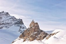 Free Rocky Peak In Snowy Mountain Stock Images - 83019634