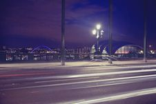Free Time Lapse Photography Of A Bridge During Night Time Royalty Free Stock Photo - 83019675