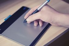 Free Hand Writing On Tablet Royalty Free Stock Image - 83019966