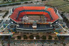 Free Aerial Of Football Stadium Royalty Free Stock Photos - 83020068
