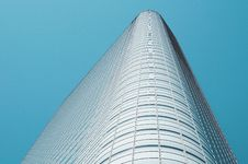 Free Skyscraper Against Blue Sky Royalty Free Stock Image - 83021356