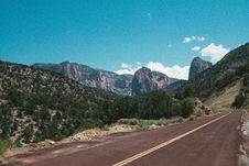 Free Roadway Through Mountains Stock Image - 83021531