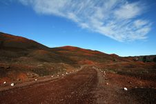 Free Brown Road Beside Hills Over White Clouds And Blue Sky During Daytime Stock Photos - 83021803