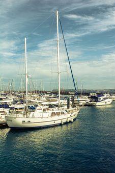 Free Sailboats In Marina Stock Image - 83021841