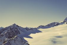 Free Scenic View Of Snow Covered Mountains Against Sky Royalty Free Stock Photography - 83021867