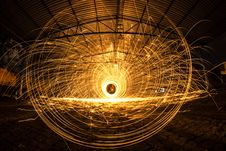 Free Long Exposure Of Sparks Royalty Free Stock Photography - 83022067