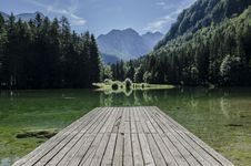 Free Wooden Jetty On Lake Royalty Free Stock Images - 83022219