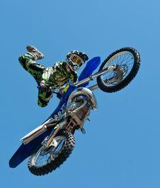 Free Motocross Against Blue Skies Stock Image - 83022541