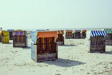 Free Strandkorb On Beach Stock Photography - 83022542
