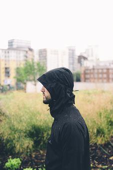 Free Bearded Man In Black Hoodie Jacket Stock Images - 83022734
